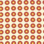 Moda Bobbins and Bits - 2783 - Red & Yellow Bobbin/Polka Dots on Cream - 43023-11 100% Cotton Fabric